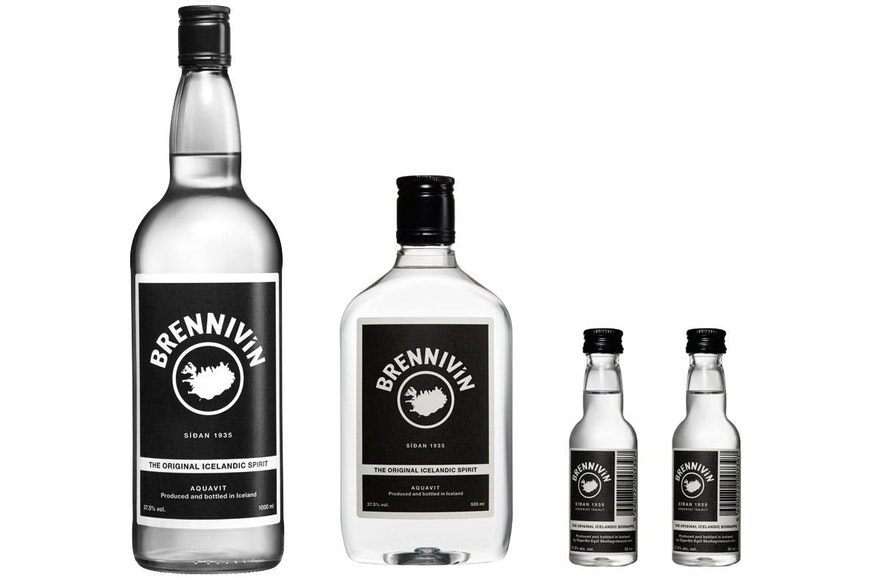 La boisson distillée emblématique de l'Islande est Brennivín