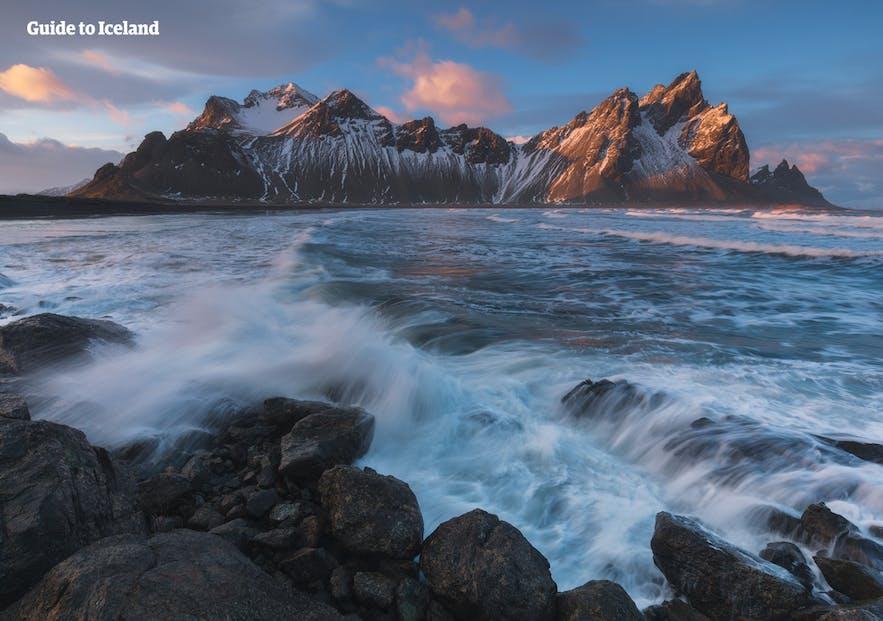 Vestrahorn dans l'Est de l'Islande
