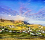 The village of Vík on the South Coast is surrounded by hills and mountains, making it a great place for a zipline adventure tour.