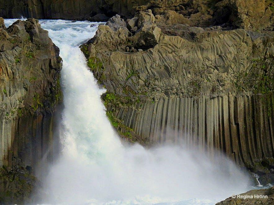 The extraordinary Aldeyjarfoss Waterfall in North-Iceland in beautiful Basalt Column Settings