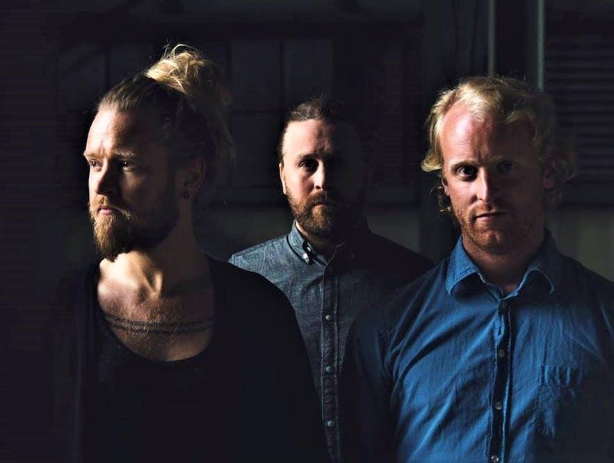 The original trio of Icelandic folk band Árstíðir