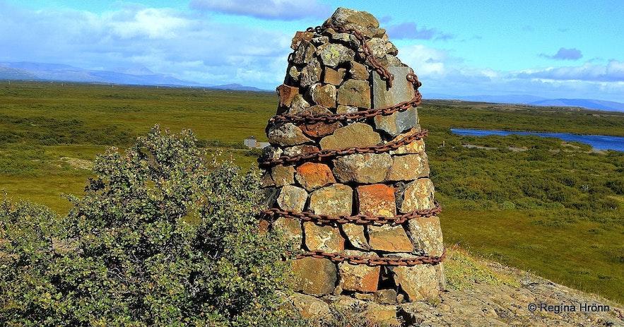 Cairn no. 7 at Einkunnir - The Saga of Egill Skallagrímsson, the Settlement Centre in Borgarnes & the 9 Cairns