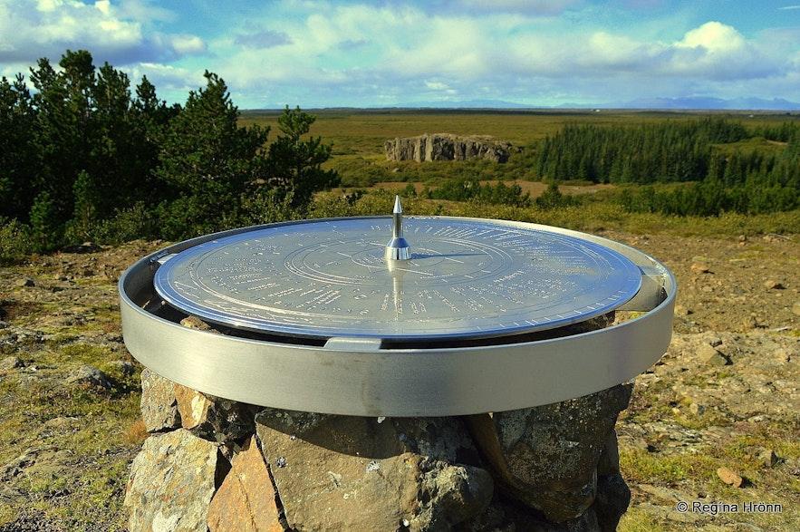 The view-dial at Einkunnir Borgarfjörður West-Iceland