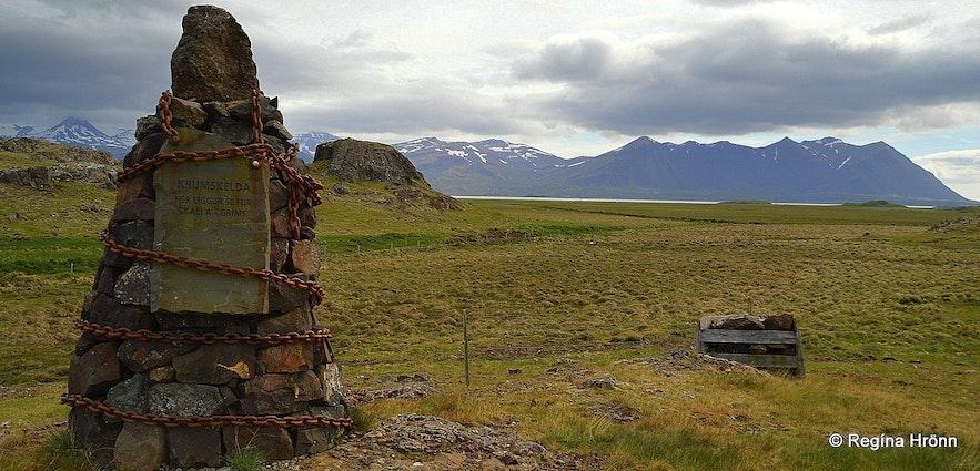 Cairn no. 8 at Krumskelda - The Saga of Egill Skallagrímsson, the Settlement Centre in Borgarnes & the 9 Cairns