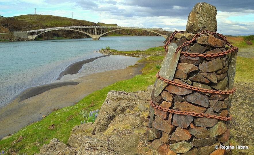 Cairn no. 9 at Hvítárvellir - The Saga of Egill Skallagrímsson, the Settlement Centre in Borgarnes & the 9 Cairns