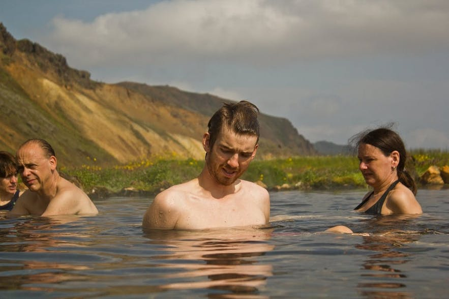 Hot spring tours in Iceland allow you to safely bathe in natural pools