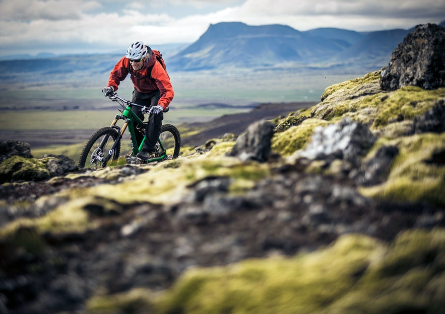 Mountain Biking is an exciting means of the Icelandic countryside.