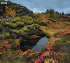 Þingvellir National Park on the Golden Circle route is where Viking settlers came together a thousand years ago to form the Icelandic parliament.
