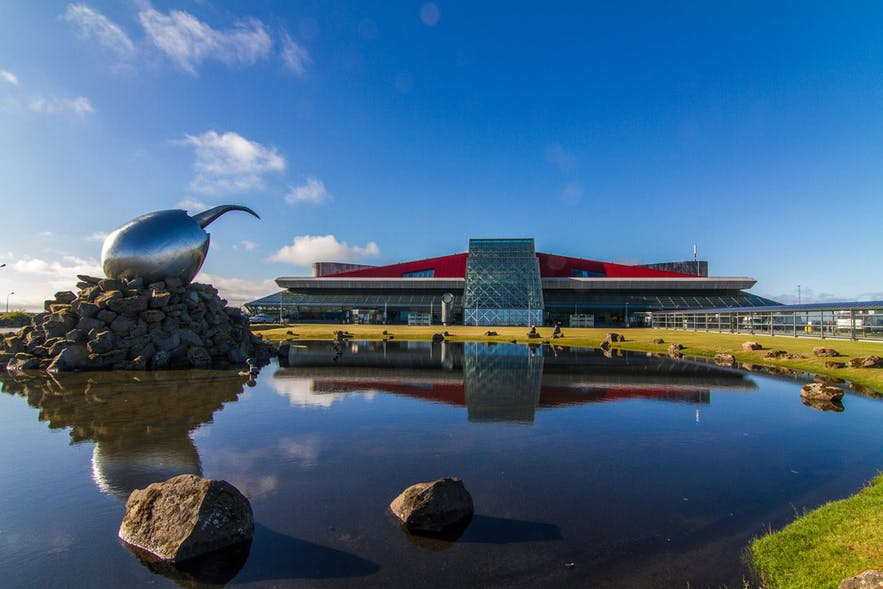 The Keflavík International Airport is located on the Reykjanes Peninsula in South Iceland.