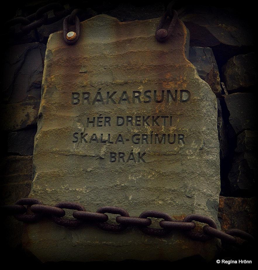 Cairn no 2 at Brákarsund - the Saga of Egill Skallagrímsson