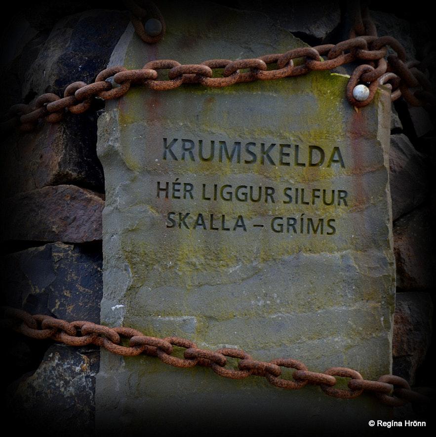 Cairn no. 8 at Krumskelda - The Saga of Egill Skalla-Grímsson