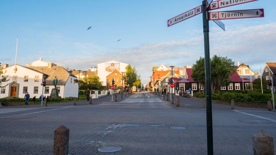 Reykjavik Downtown is a very roam-friendly city when the weather is nice.