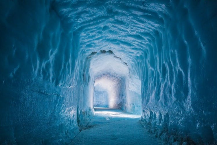 Intricate tunnels have been carved inside Langjökull, Iceland's second largest glacier