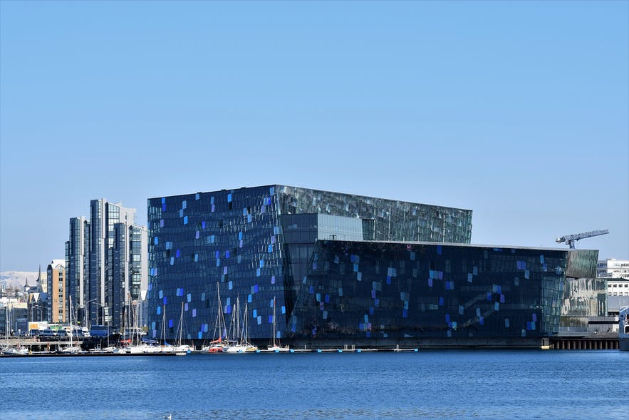 The Harpa Concert Hall is one of the most celebrated architectural monuments in the city of Reykjavík.