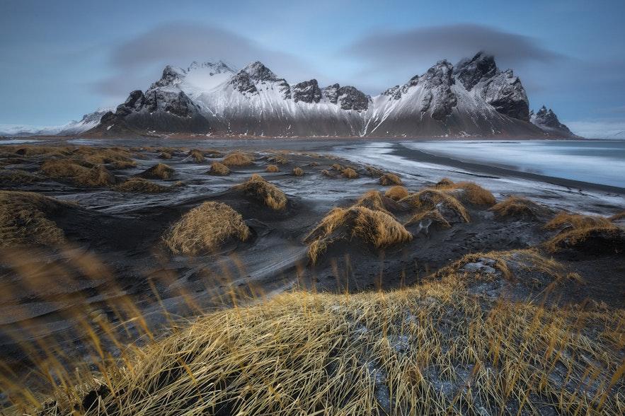 秋天的冰島Vestrahorn