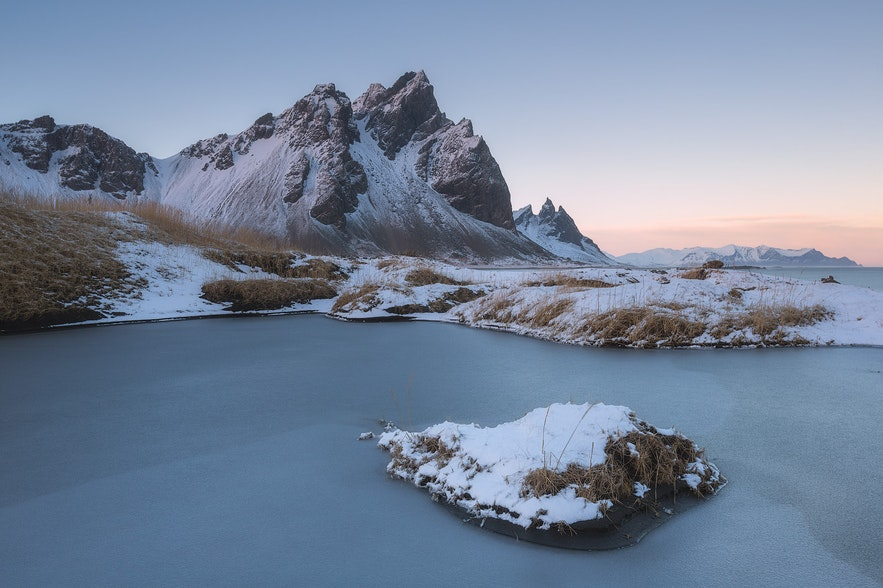 冬天的vestrahorn