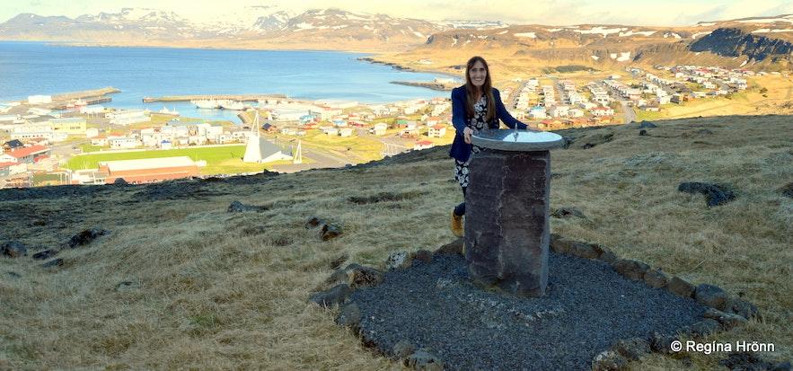 Regína by the view-dial by Ólafsvík