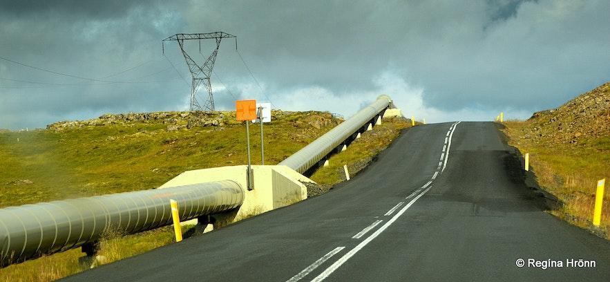 Nesjavallavegur road SW-Iceland