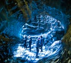 On an ice cave tour on the South Coast, you'll visit an authentic ice cave in Mýrdalsjökull glacier which covers the volcano Katla.