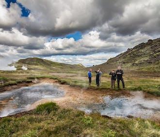 Survol de cascades et vallées en hélicoptère | Départ de Reykjavik
