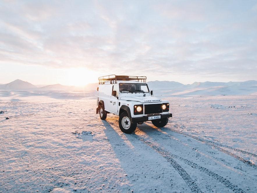 冰島 雪地車