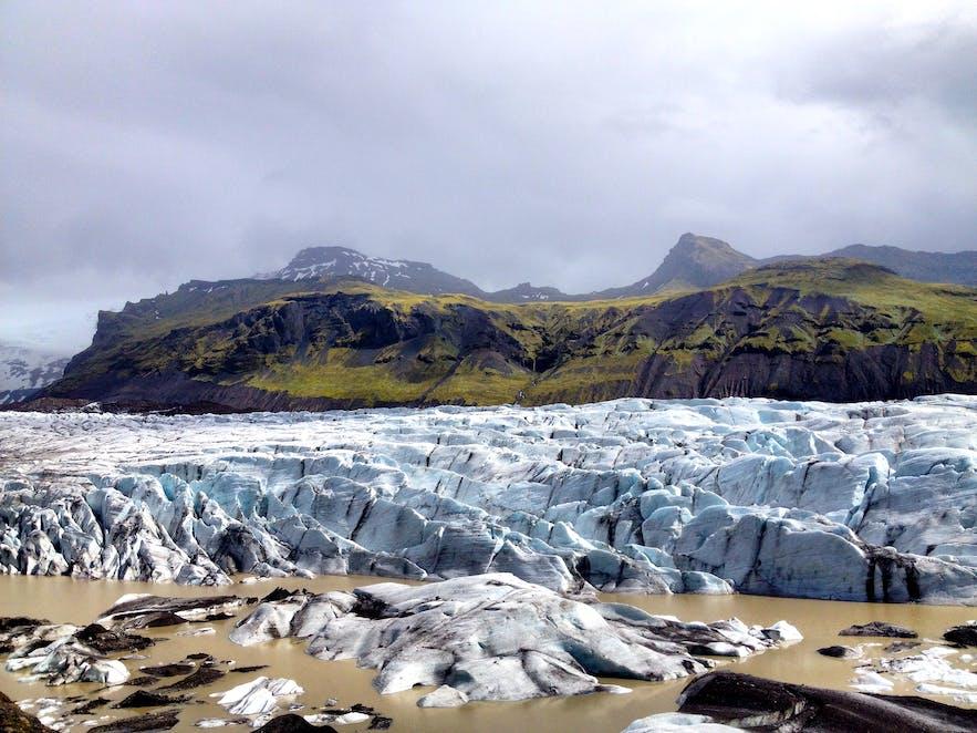 Svínafellsjökull Glacier - An outlet glacier of Vatnajökull Glacier