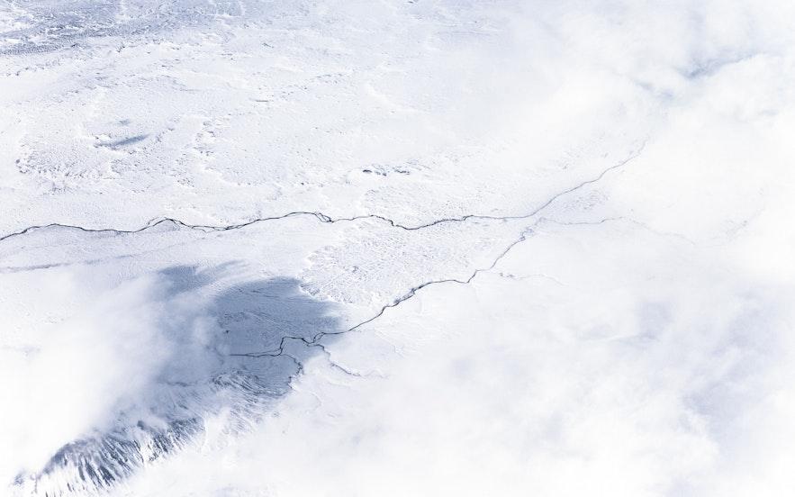 冰島冬天雪景