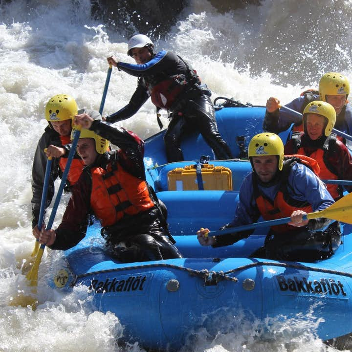 This north Iceland summer rafting tour is very demanding and adventurous.
