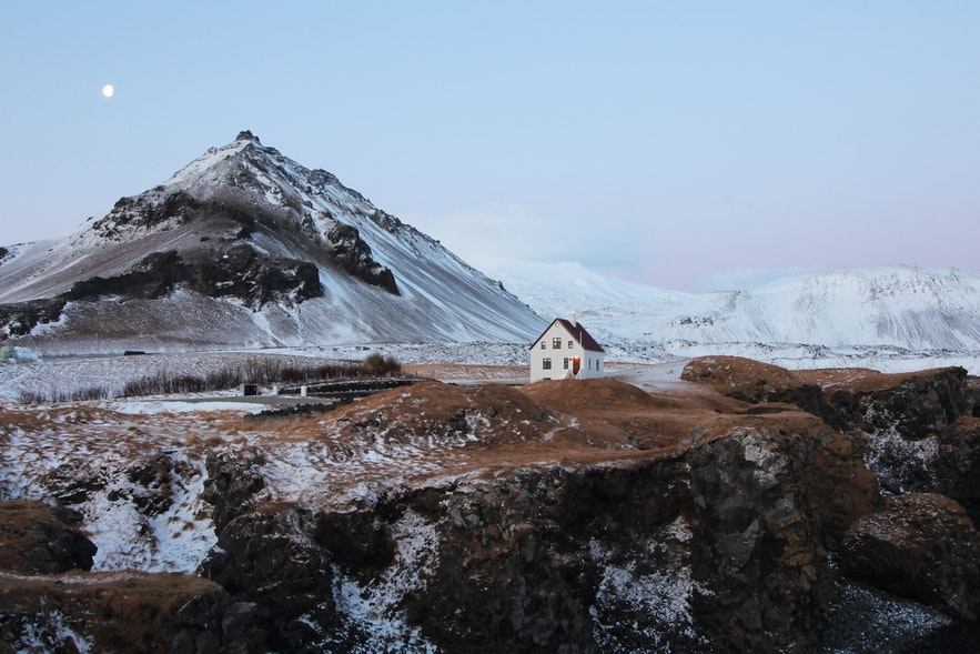 冰島斯奈山半島冬天