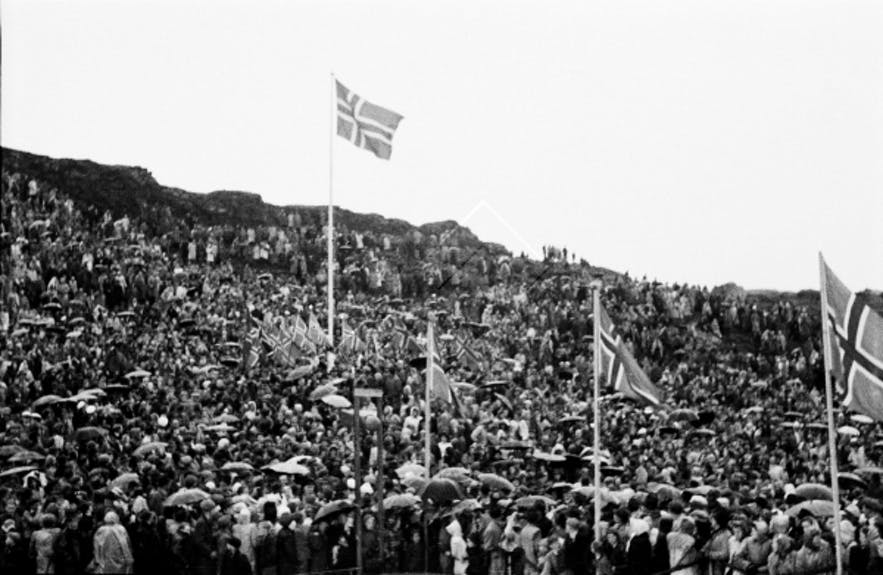 Independence Day celebrations at Þingvellir National Park.