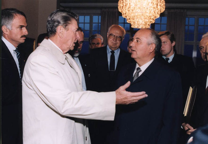 A meeting of minds at the Reykjavik Summit in 1986.