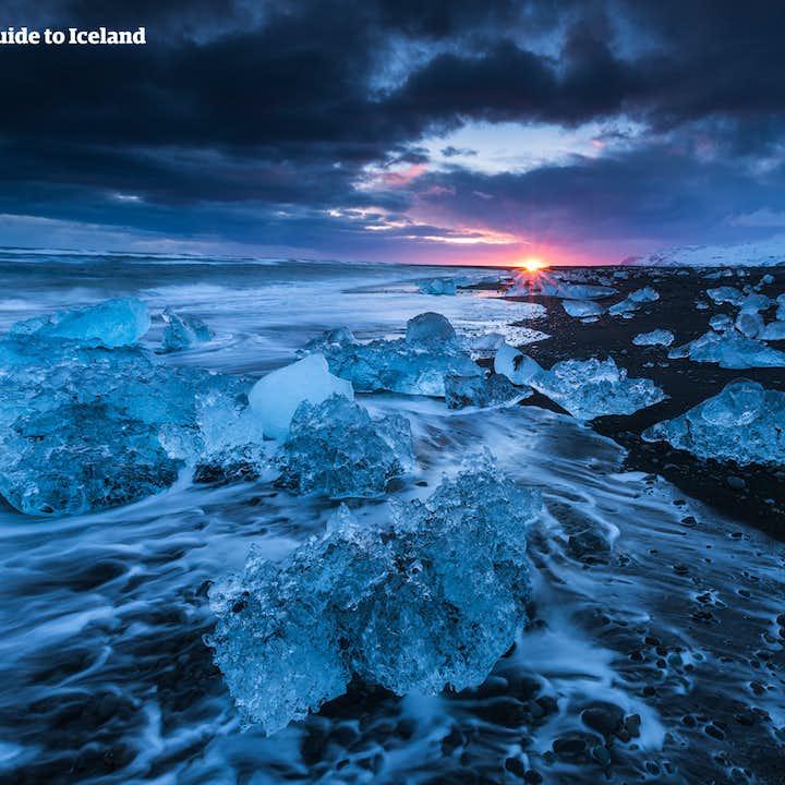 5 dagers vinterlig leiebiltur | Nordlyset, Den gylne sirkel og bresjøen Jökulsárlón
