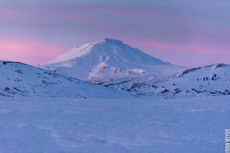The snow-covered mountains of Kerlingarfjöll in the highlands.