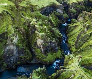Canyon Fjaðrárgljúfur et cascade Fagrifoss | Super Jeep dans le sud de l'Islande