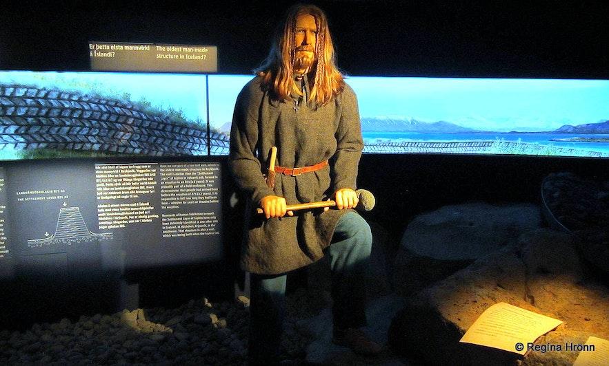 Inside the Settlement Exhibition in Aðalstræti