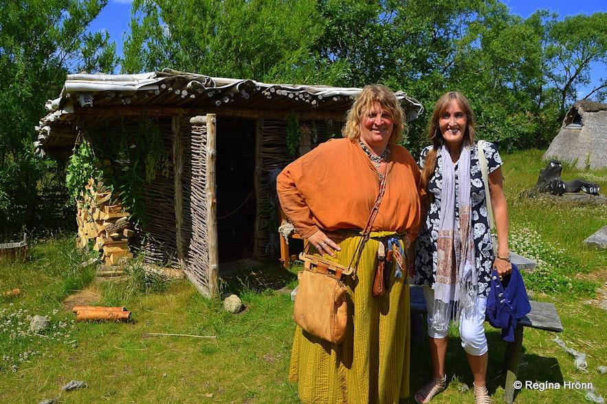 Regína and Guðrún at the Viking village in Ribe Denmakr