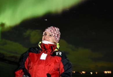 Auroras boreales en barco