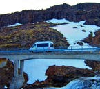 A minibus will allow you to rest after an invigorating hike through the pristine fjordscapes of the Westfjords.