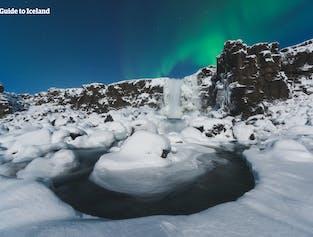 4일 겨울 렌트카 여행 패키지   골든 서클, 빙하와 검은 모래 해변