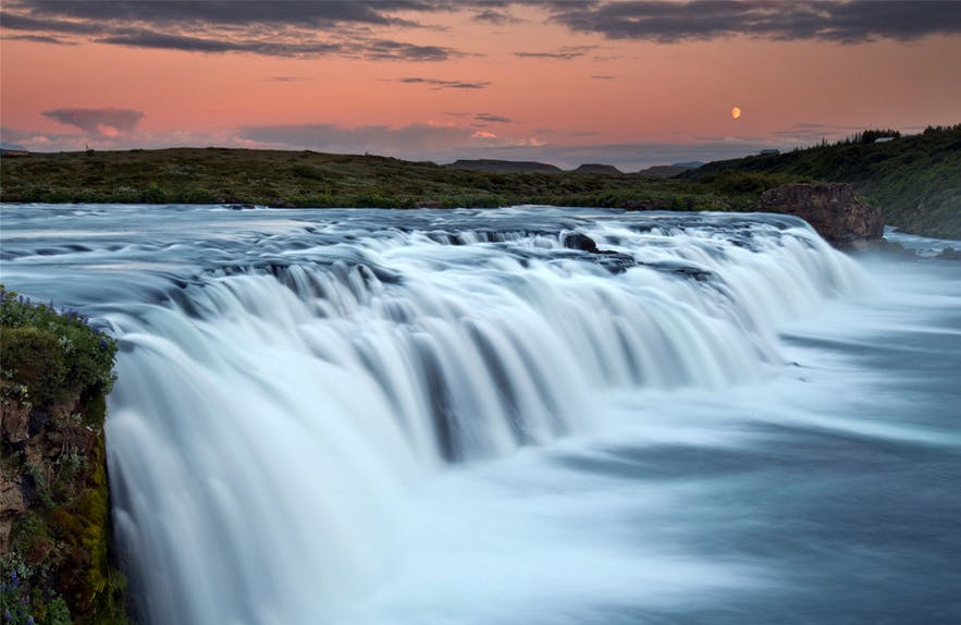 The waterfall Faxi has become a popular stop for visitors traversing the Golden Circle sightseeing route in Iceland.