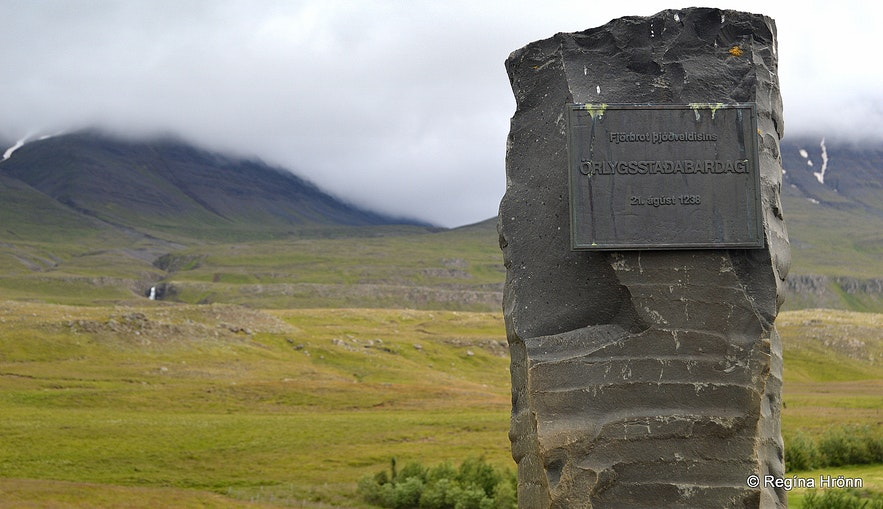 The monument about Örlygsstaðabardagi