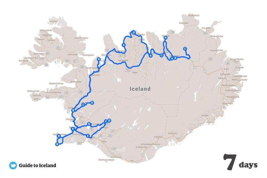 冰島秋季7日自駕地圖