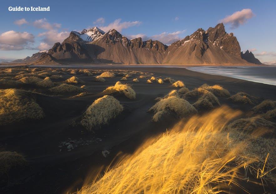秋天冰島Vestrahorn