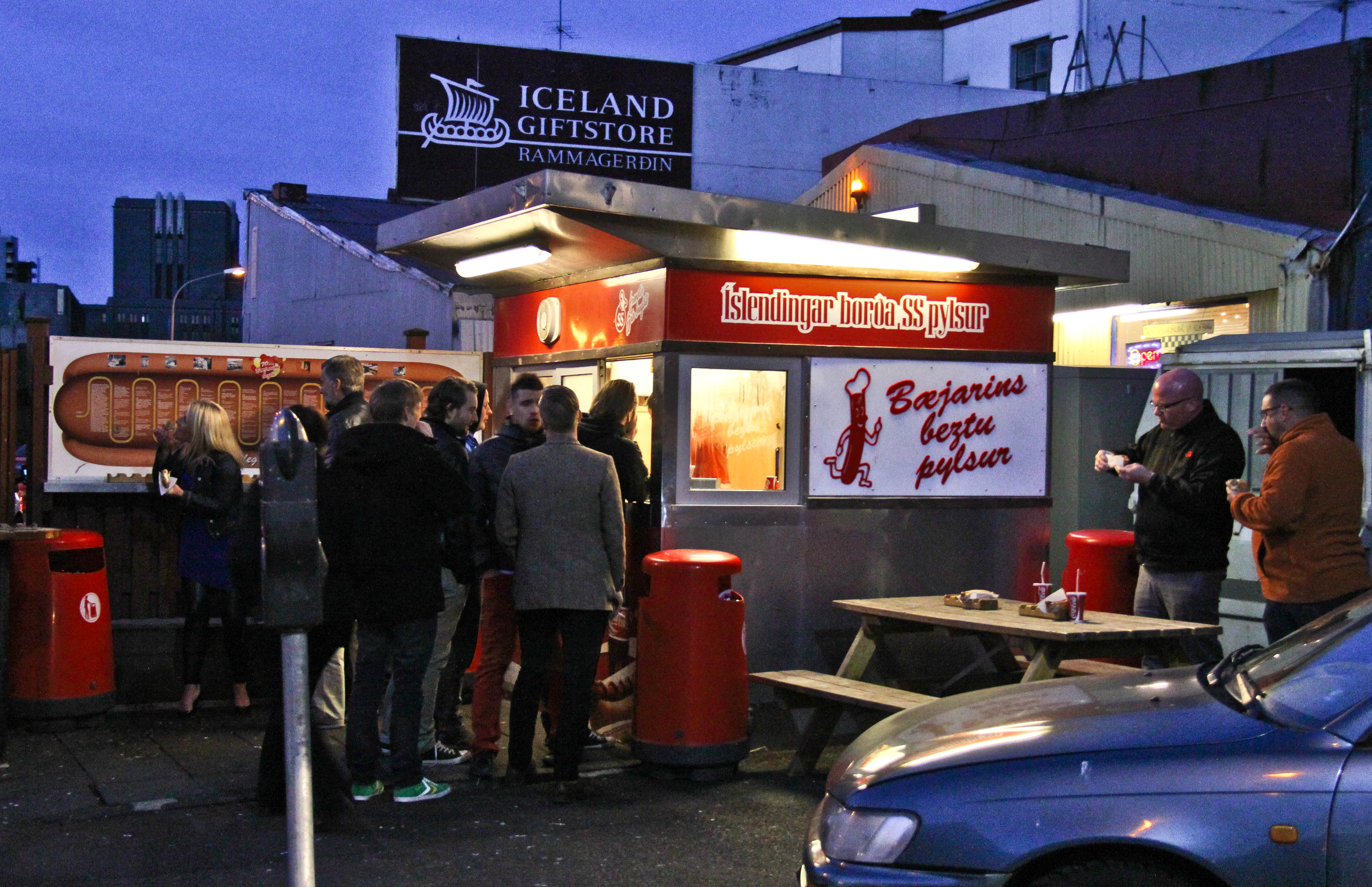 Check out Reykjavik's most famous hot dog stand!