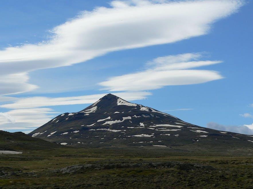 Súlur is a rhyolite mountain found southwest of Akureyri in Iceland.