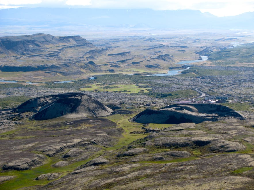 冰岛西部斯奈山半岛的Ljósufjöll火山