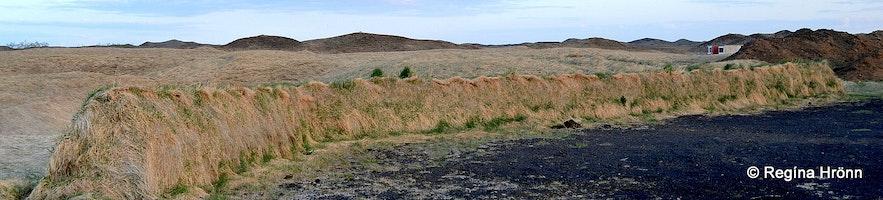 Replica of the Remains of the 11th Century Bjarnargarður Wall