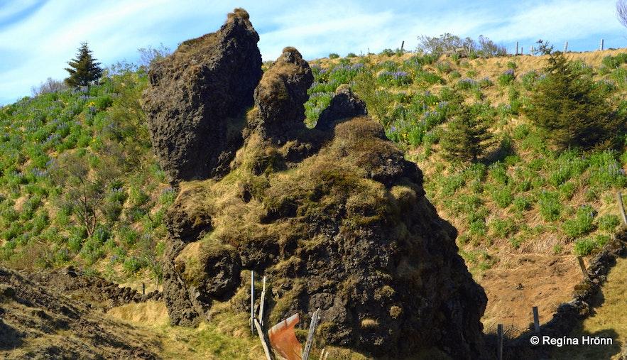 A large rock formation at Landbrot
