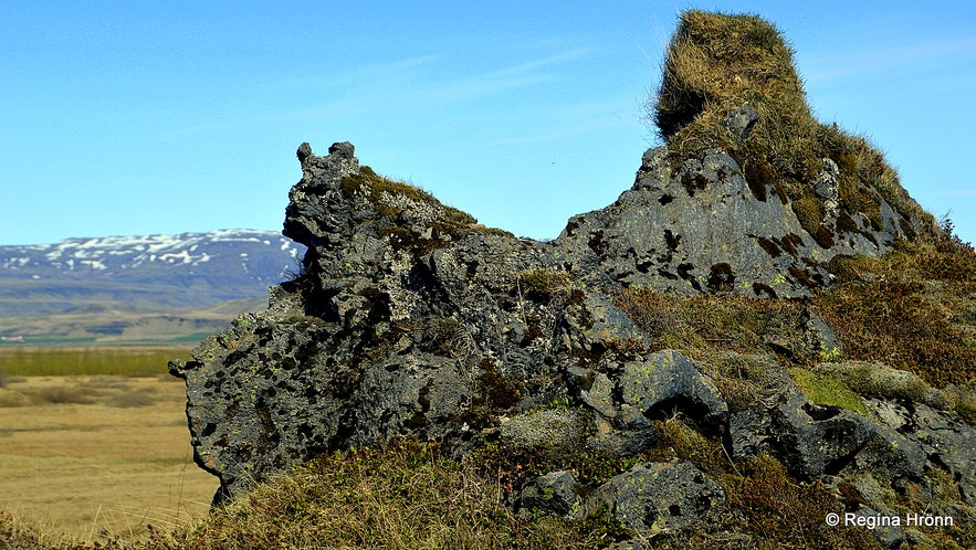 Elf Church and city by Hotel Laki in South-Iceland