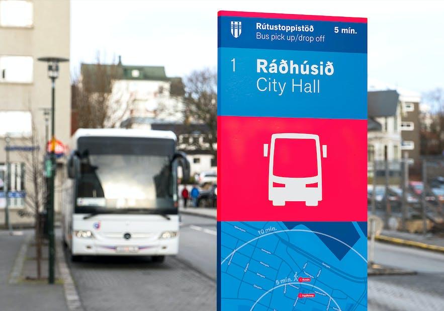 ツアー専用のバス停